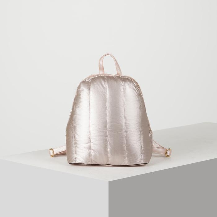 Рюкзак молодёжный, отдел на молнии, цвет перламутр пудра