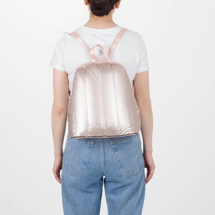 Рюкзак молодёжный, отдел на молнии, цвет перламутр пудра - фото 416995505