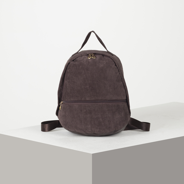 Рюкзак молодёжный, отдел на молнии, наружный карман, цвет кофе