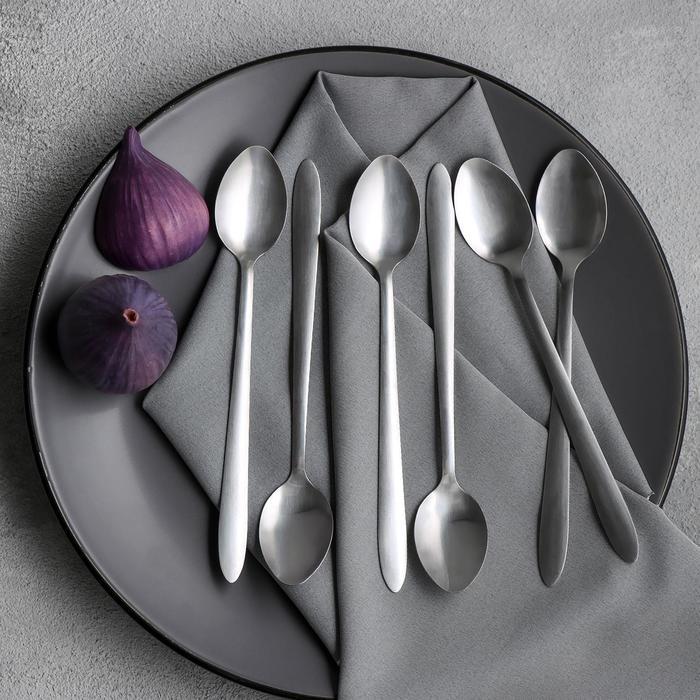 "Set of cocktail spoons 19 cm ""Breakfast"", 6 PCs"