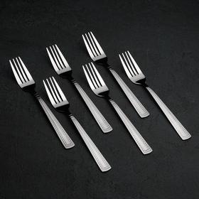 Набор столовых приборов «Рококо», 24 предмета, на подставке - фото 70082