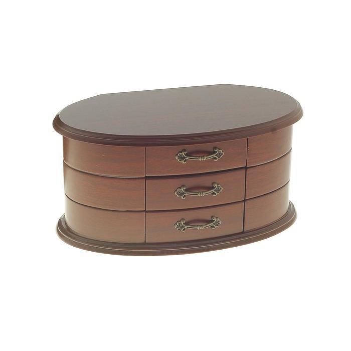 Шкатулка круглая с выдвижными ящиками