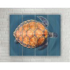 "Painting on wood in the style Loft ""Turtle"" No. 3.41, 37*30 cm"