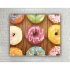 "Painting on wood in the style Loft ""Donuts"" No. 3.21, 37*30 cm"