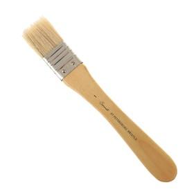 Кисть «Сонет» № 1, щетина, флейцевая, b=33 мм, короткая ручка, покрытая лаком