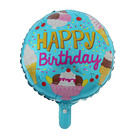 """Шар фольгированный 18"""" """"С днем рождения"""", мороженое, круг - фото 308472578"""