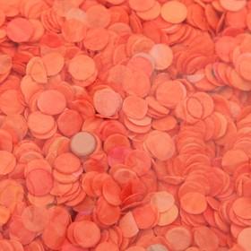 Конфетти, 0,5 мм, 20 г, цвет оранжевый