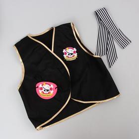 Карнавальный костюм «Королева пиратов», жилетка, повязка, наглазник фетр