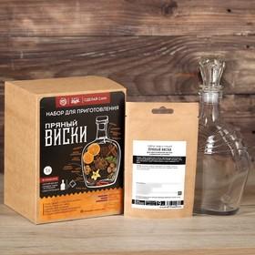 Подарочный набор для приготовления напитка «Пряный виски»: штоф 500мл, специи 19 г., инструкция