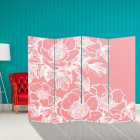 """Ширма """"Цветы"""", 200 × 160 см"""