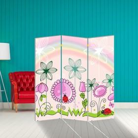 """Ширма """"Цветочная полянка"""", 160 × 150 см"""