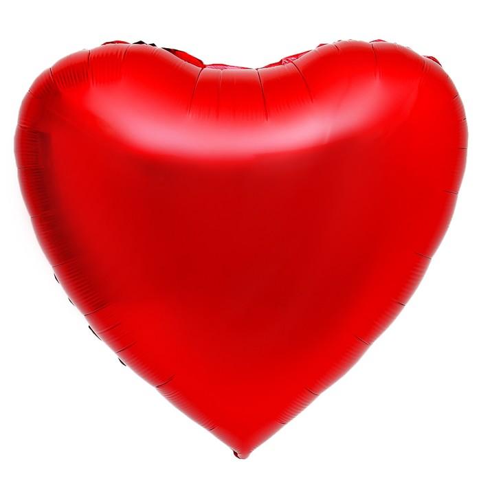 """Шар фольгированный 32"""" """"Сердце"""""""", цвет красный - фото 129015458"""