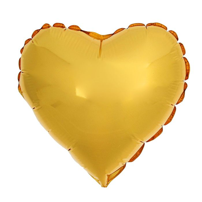 """Шар фольгированный 24"""" «Сердце», цвет золотой - фото 308473628"""
