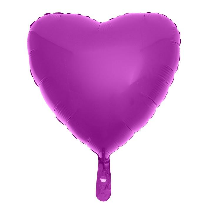 """Шар фольгированный 24"""" «Сердце», цвет фуксии - фото 308473629"""