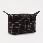 Cosmetic bag road, division zipper, color black