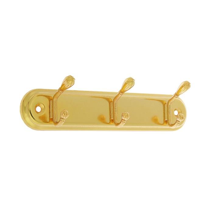 Вешалка 3-х местная KV303GP, цвет золото