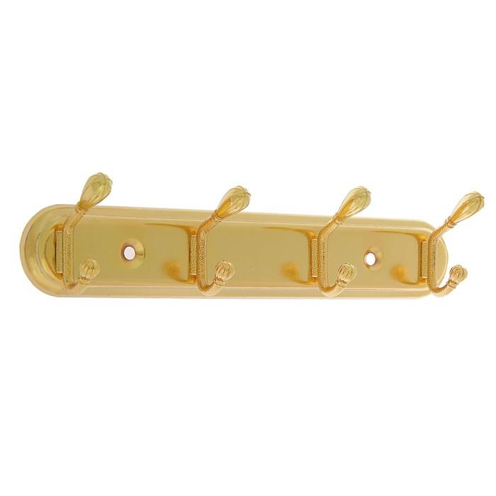 Вешалка 4-х местная, KV304GP, цвет золото
