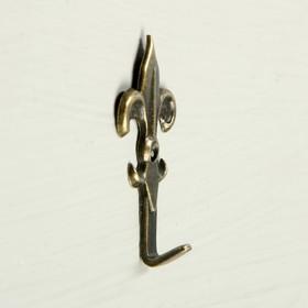 Крючок мебельный VINTAGE 014, цвет бронза