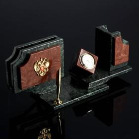 """Набор настольный """"Куб"""", 30х10х13,5 см, креноид, лемезит"""