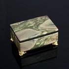 Ларец на ножках 9х6х5 см, натуральный камень, яшма