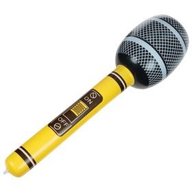 Игрушка надувная «Микрофон» 65 см, звук, цвета МИКС Ош