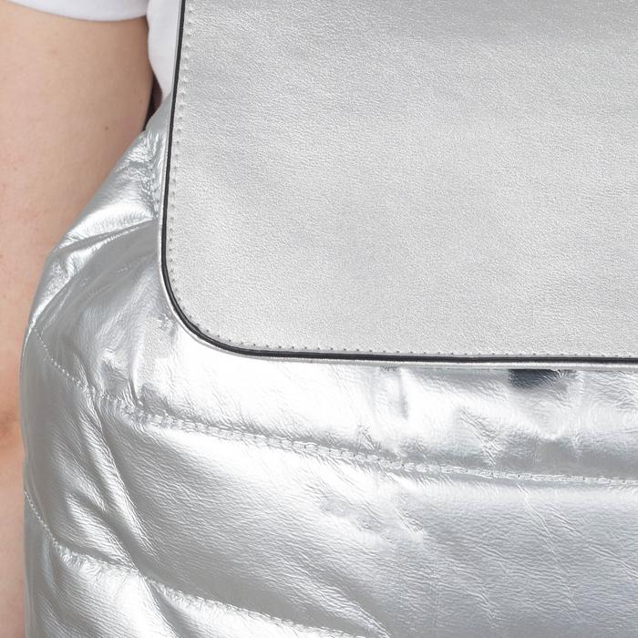 Рюкзак молодёжный, отдел на шнурке, цвет перламутр серебро - фото 415622480