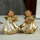 "Souvenir Polyresin ""angel in pearl dress with heart"" MIX 10х8х5,5 cm"