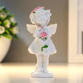 "Сувенир полистоун ""Ангел-девочка в розовом венке с розой"" МИКС 7,8х3,8х2,5 см в Донецке"