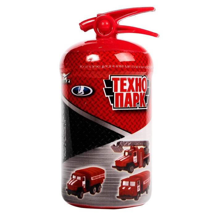 Машина металлическая «Пожарная техника» в огнетушителе, МИКС - фото 76665580