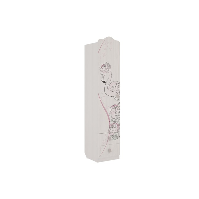 Шкаф комбинированный 1 ств Фэнтези, 400х420х1905, Белый рамух