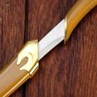 Сувенирный нож, светлое дерево с золотыми вставками 29 см - фото 4678053
