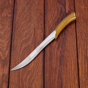 Сувенирный нож, светлое дерево с золотыми вставками 29 см - фото 4678054