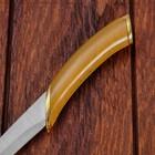 Сувенирный нож, светлое дерево с золотыми вставками 29 см - фото 4678056