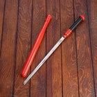 Sword, scabbard red metal. case, 61cm