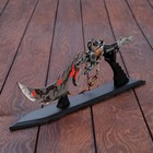 """The dagger on the stand """"dragon Heart"""", a triple edge, a handle in the form of a dragon's tail, 39 cm"""