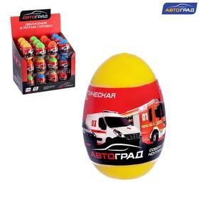 Машина металлическая в яйце «Спецслужбы», масштаб 1:64, МИКС