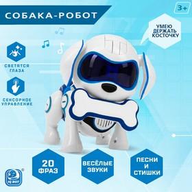 Робот-игрушка интерактивный «Собака Чаппи», русское озвучивание, цвет синий