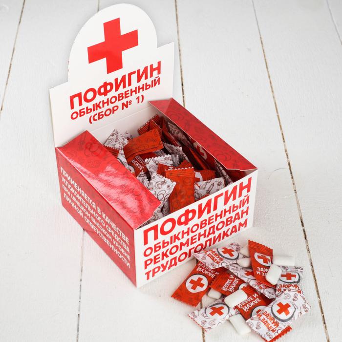 """Жевательная резинка """"Пофигин обыкновенный"""", 100 шт."""