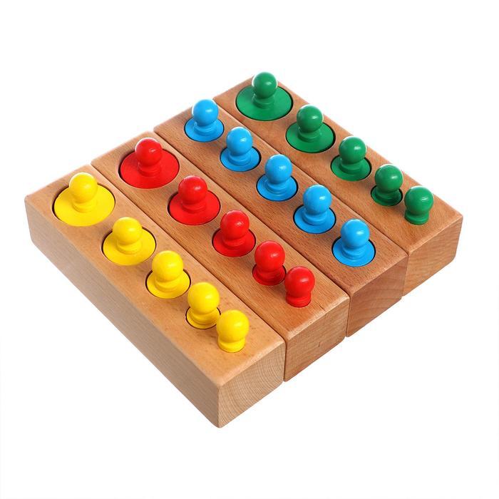 """Развивающий набор цилиндров """"Больше-меньше"""", цветные    MSN17065"""