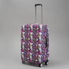 """Чехол для чемодана """"Орнамент"""", 20"""", цвет фиолетовый"""