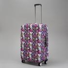 """Чехол для чемодана """"Орнамент"""", 24"""", цвет фиолетовый"""
