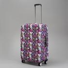 """Чехол для чемодана """"Орнамент"""", 28"""", цвет фиолетовый"""