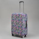 """Чехол для чемодана """"Тропики"""", 28"""", цвет фиолетовый"""
