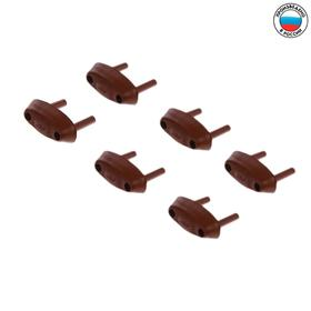 Заглушка для электрических розеток (комплект 6 шт), цвет коричневый