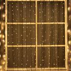 """Гирлянда """"Занавес"""" уличная, УМС, 2 х 3 м, 3W LED-760-220V, нить тёмная, свечение тёплое белое"""
