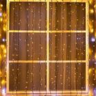 """Гирлянда """"Занавес"""" уличная, УМС, 2 х 3 м, 3W LED-760/180-220V, мерцание, нить тёмная, свечение тёплое белое"""