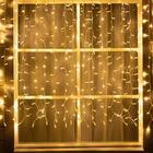 """Гирлянда """"Занавес"""" уличная, УМС, 2 х 1.5 м, 3W LED(IP65)-360-220V, нить белая, свечение тёплое белое"""