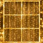 """Гирлянда """"Занавес"""" уличная, УМС, 2 х 3 м, 3W LED(IP65)-760-220V, нить белая, свечение тёплое белое"""