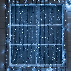 """Гирлянда """"Занавес"""" 2 х 3 м , IP65, УМС, тёмная нить, 760 LED, свечение белое, 220 В"""