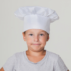 "Carnival cap ""Chef"", head circumference 53-57 cm, color white"